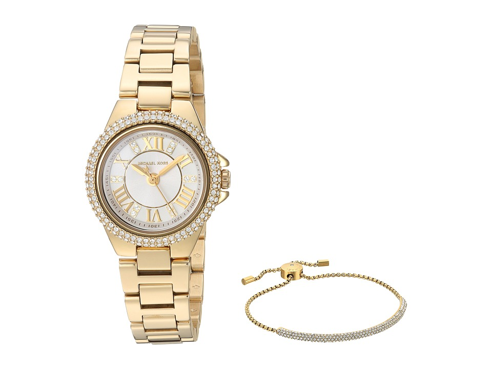 Michael Kors - MK3653 - Petite Camille and Bracelet Gift Set (White) Watches