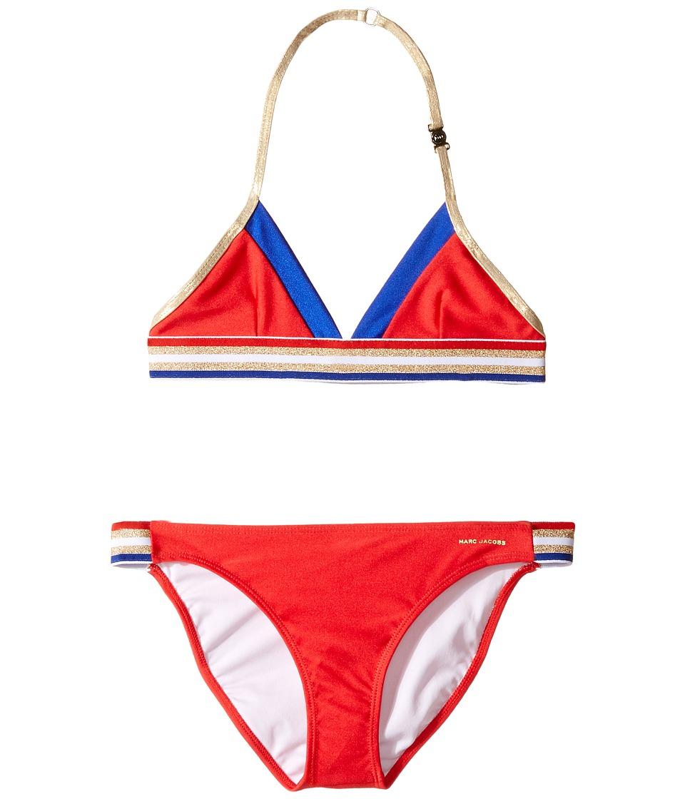Little Marc Jacobs - Two-Piece Swimsuit (Little Kids/Big Kids) (Pop Red) Girl's Swimwear Sets