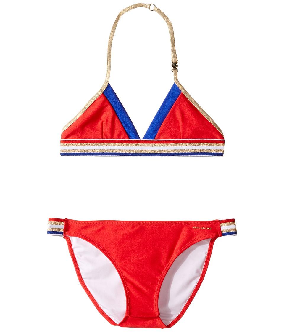 Little Marc Jacobs - Two-Piece Swimsuit (Big Kids) (Pop Red) Girl's Swimwear Sets