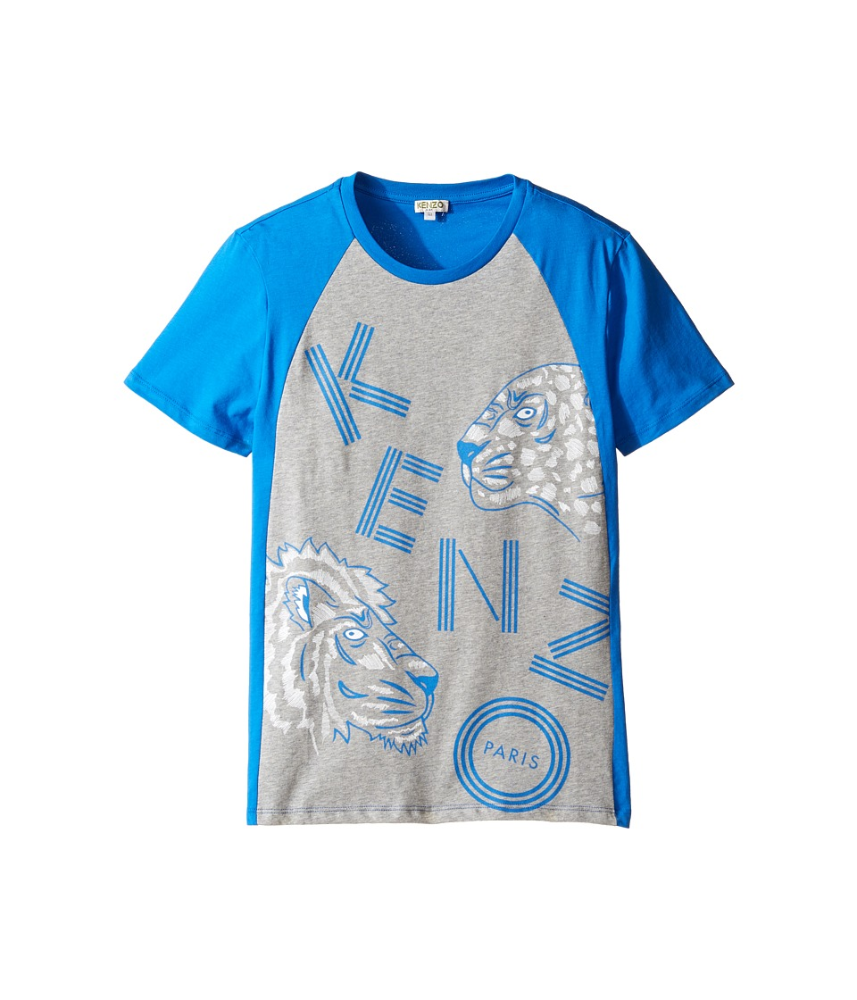 Kenzo Kids - Blunt Tee Shirt (Big Kids) (Vivid Blue) Boy's T Shirt