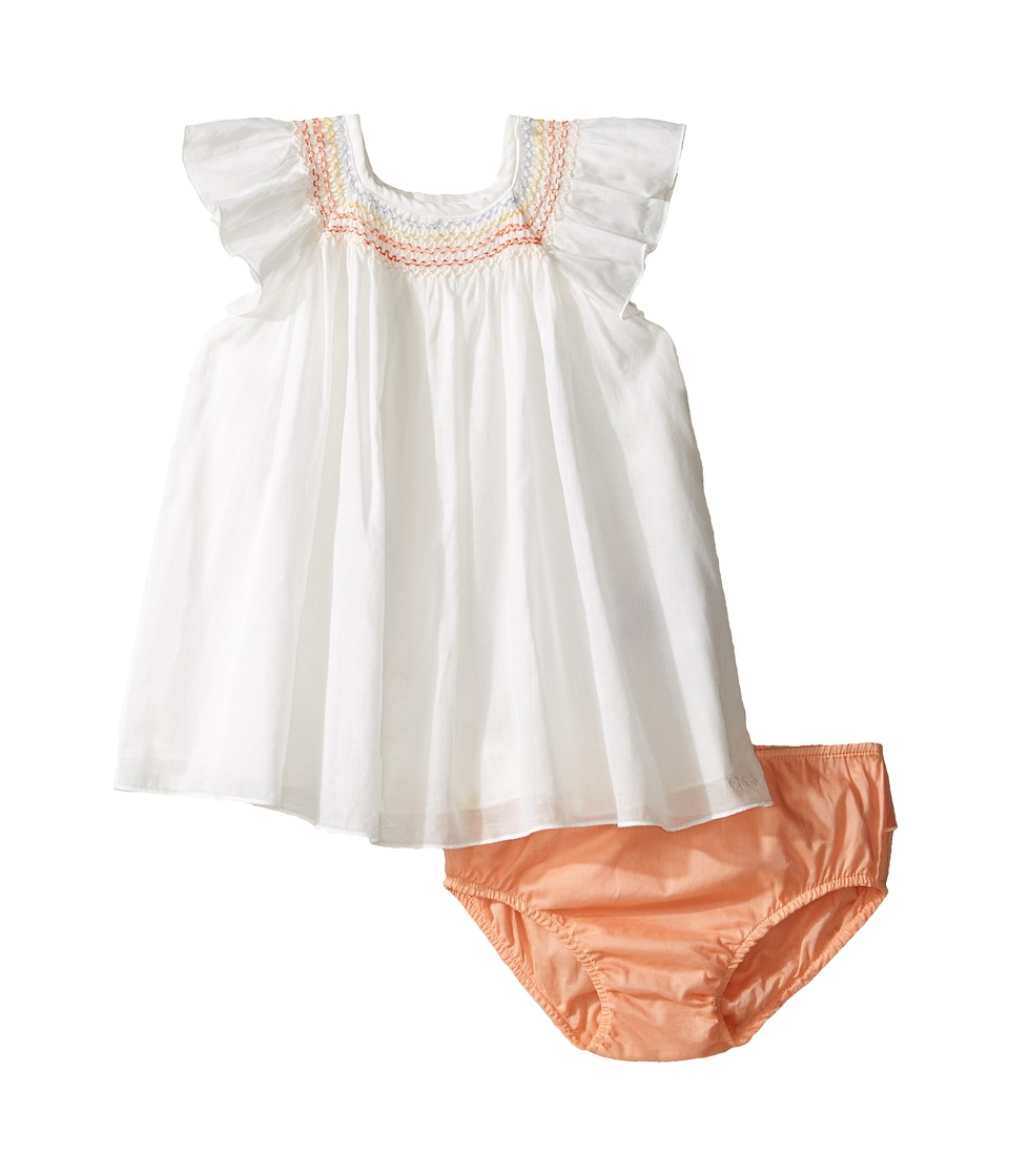 Chloe Kids - Newborn Rainbow Blouse/Bloomer Set (Infant) (Off-White) Girl's Suits Sets
