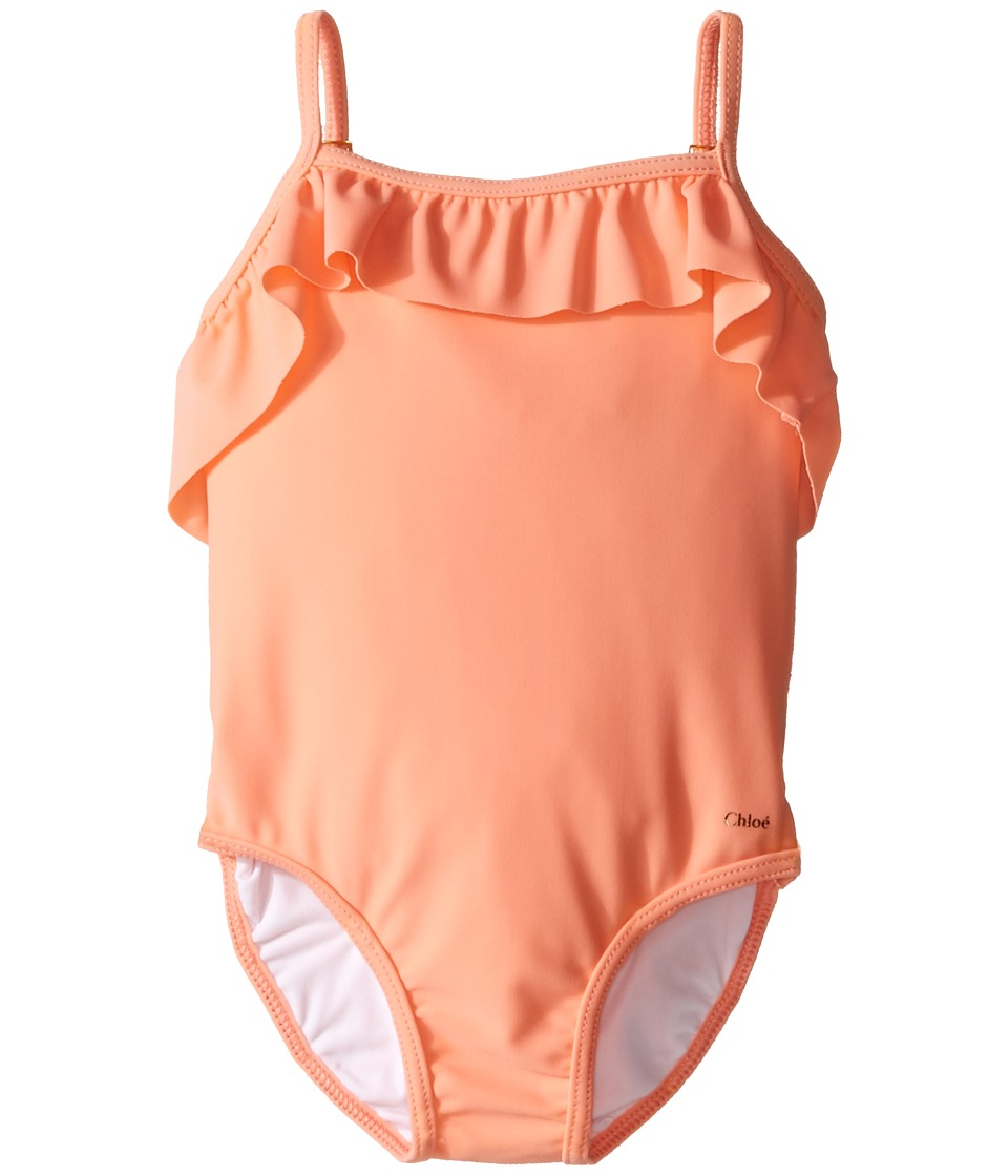 Chloe Kids - Ruffle One-Piece Swimsuit (Infant) (Sorbet) Girl's Swimsuits One Piece
