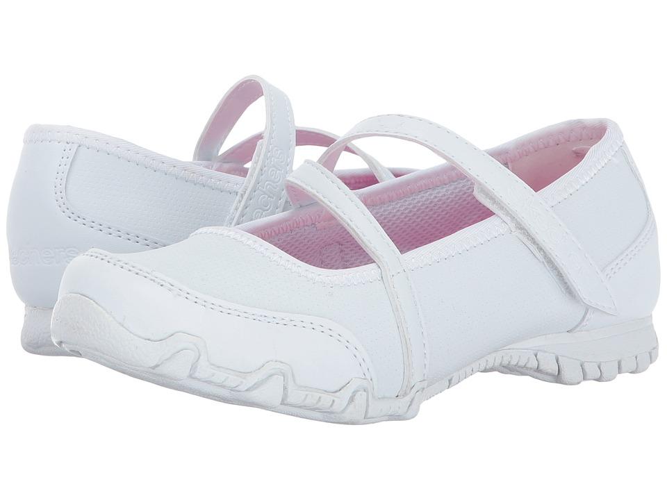 SKECHERS KIDS - Bikers II 82221L (Little Kid/Big Kid) (White) Girl's Shoes