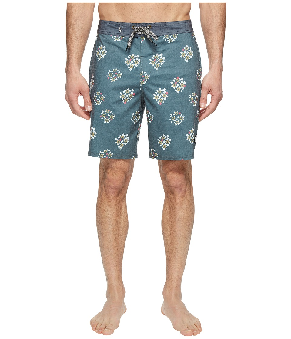 Roark - Holi Rangoli Boardshorts (Green) Men's Swimwear