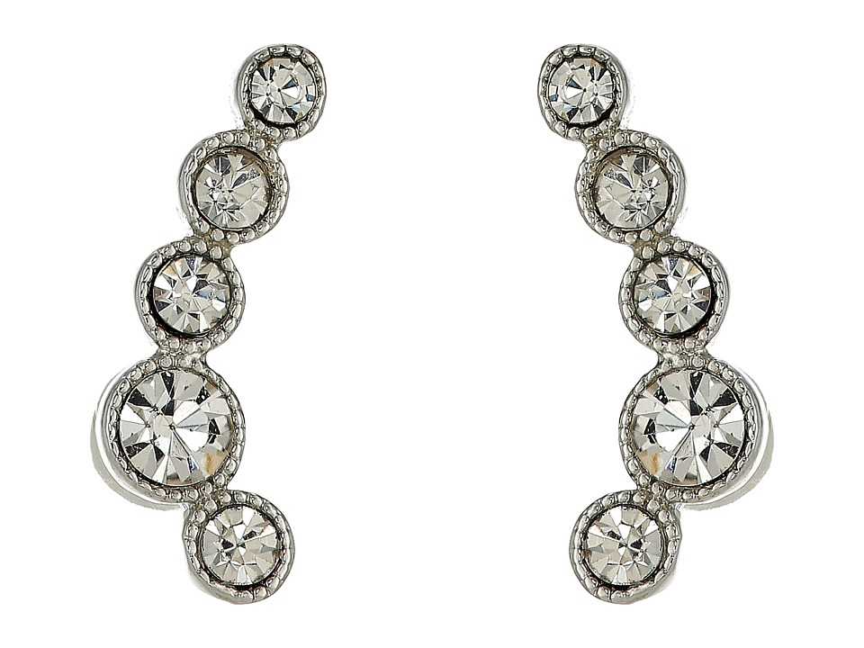 LAUREN Ralph Lauren - Headlines Ear Climber Earrings (Silver/Crystal) Earring