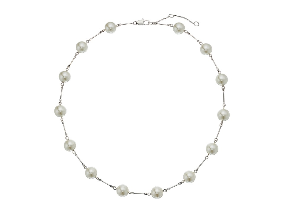 LAUREN Ralph Lauren - Headlines 18 in Pearl Collar Necklace (Silver/Pearl/Crystal) Necklace