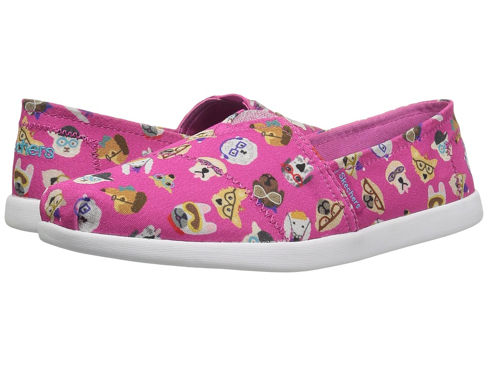 SKECHERS KIDS - Solestice 85290L (Little Kid/Big Kid) (Hot Pink/Multi) Girl's Shoes