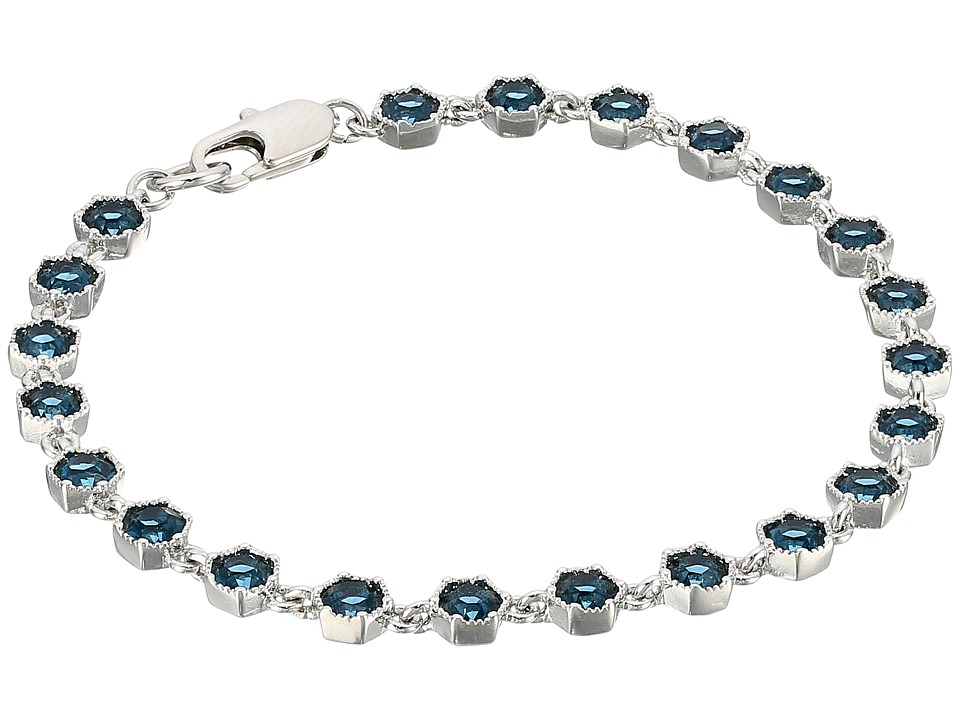 LAUREN Ralph Lauren - Headlines 7.5 in Hexagon Flex Bracelet (Silver/Blue) Bracelet