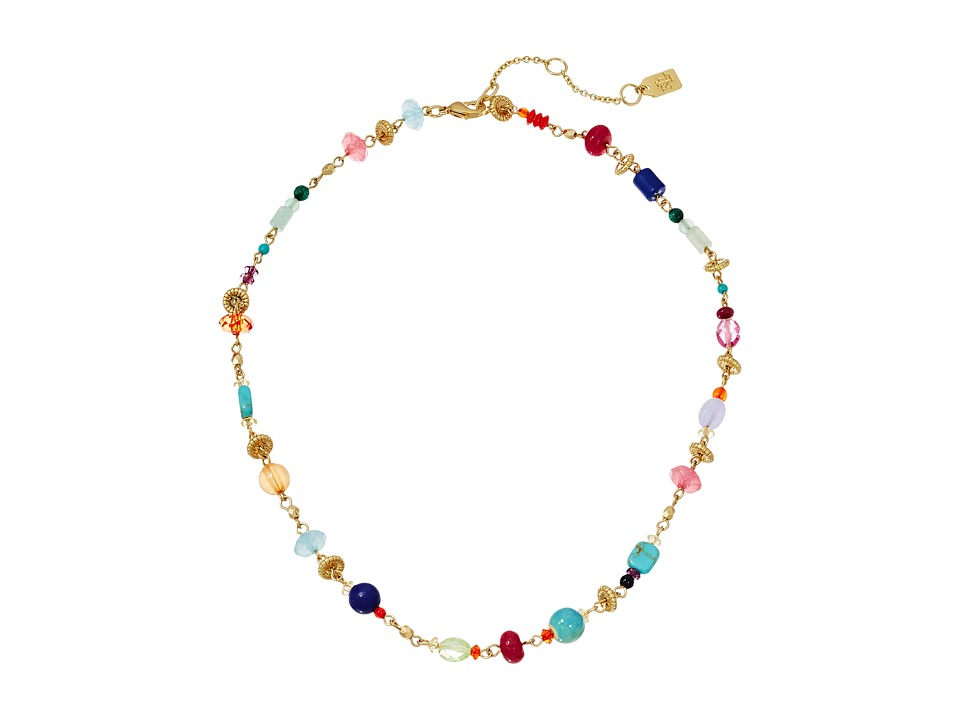 LAUREN Ralph Lauren - Pop Style 15 in Collar Necklace (Gold/Multi) Necklace