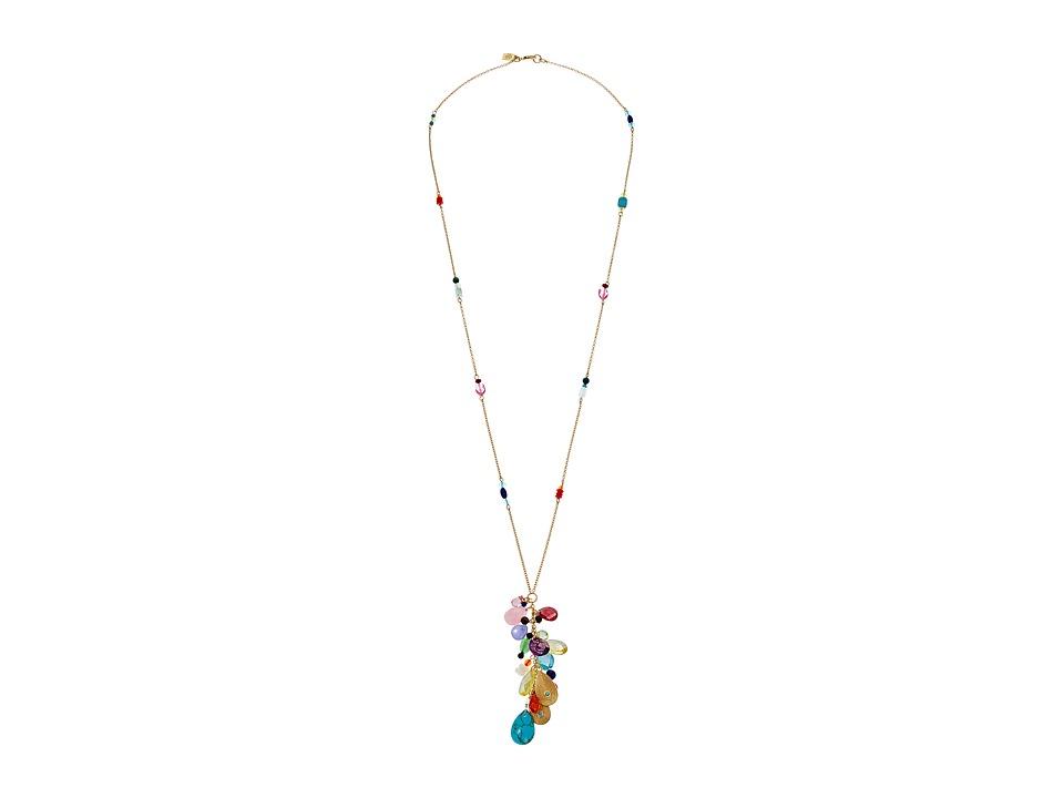 LAUREN Ralph Lauren - Pop Style 28 in Long Y Necklace (Gold/Multi) Necklace