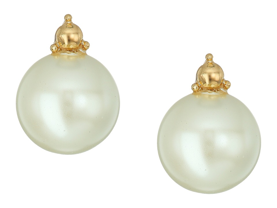 LAUREN Ralph Lauren - Two Dozen Roses Pearl Stud Earrings (Gold/Pearl) Earring