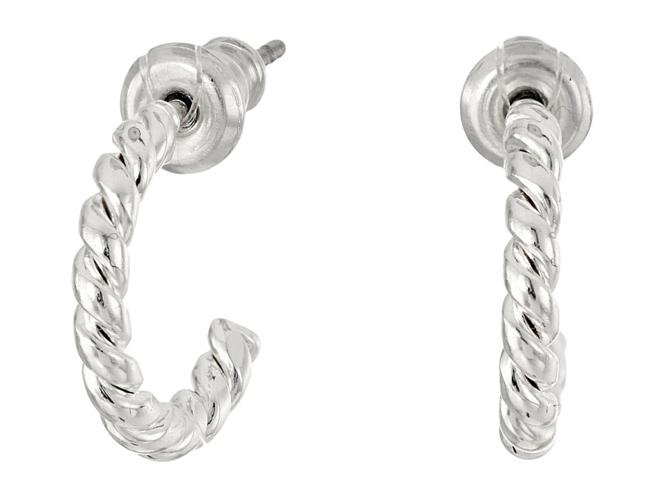 LAUREN Ralph Lauren - Perfect Pieces Small Twisted Hoop Earrings (Silver) Earring
