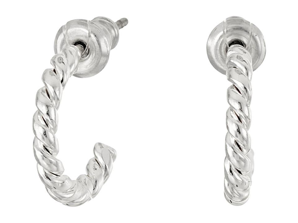 LAUREN Ralph Lauren - Perfect Pieces Small Twisted Hoop Earrings (Silver) Earring
