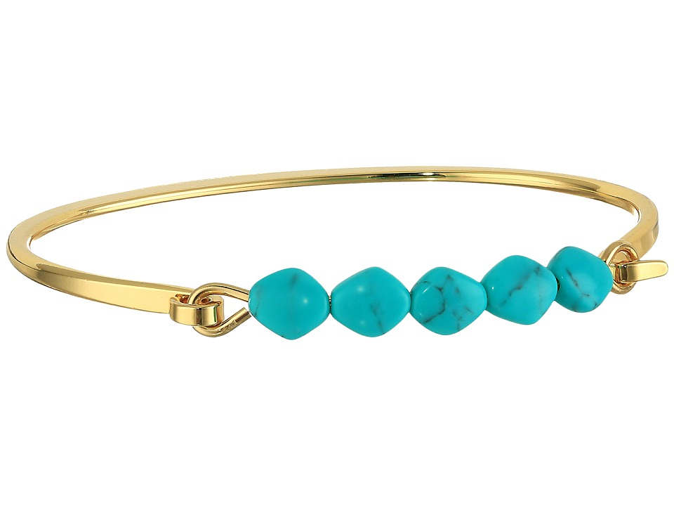LAUREN Ralph Lauren - Turquoise and Caicos Bead and Metal Cuff Bracelet (Gold/Turquoise) Bracelet