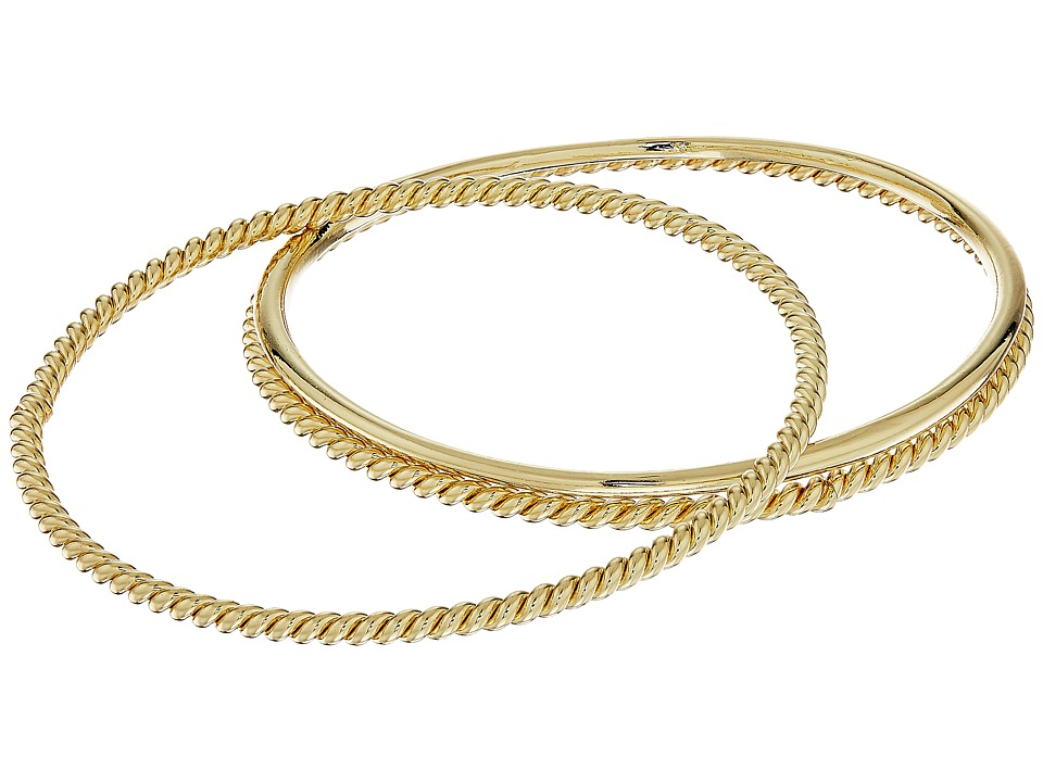 LAUREN Ralph Lauren - Perfect Pieces 3 Piece Metal Bangle Bracelet Set (Gold) Bracelet