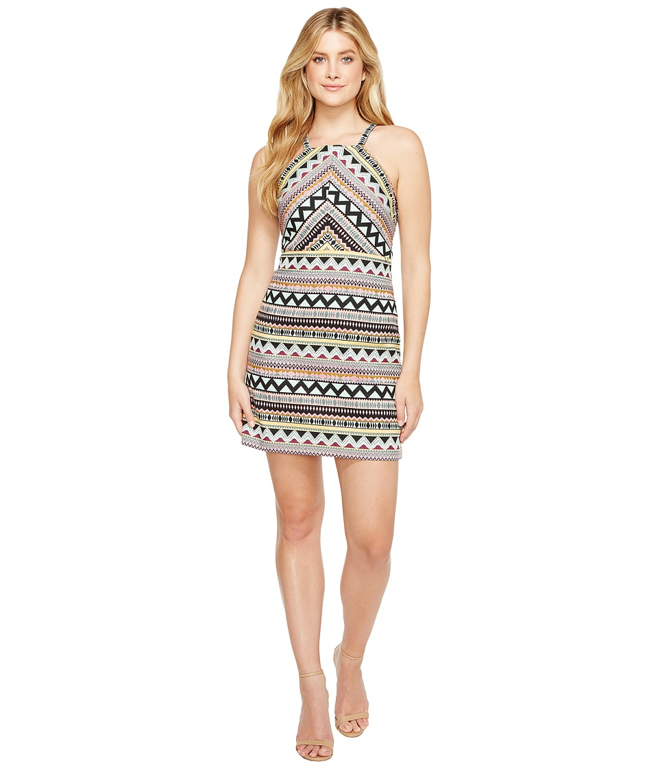 Laundry by Shelli Segal - Aztec Jacquard Halter Dress (Black) Women's Dress