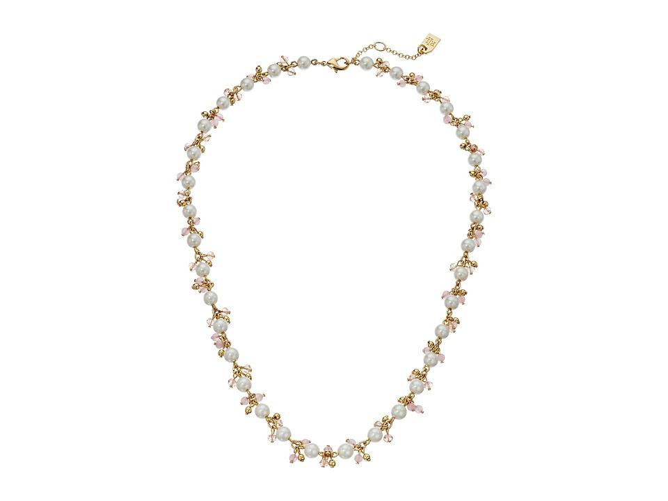 LAUREN Ralph Lauren - Two Dozen Roses 18 in Shakey Collar Necklace (Gold/Pink/Pearl) Necklace