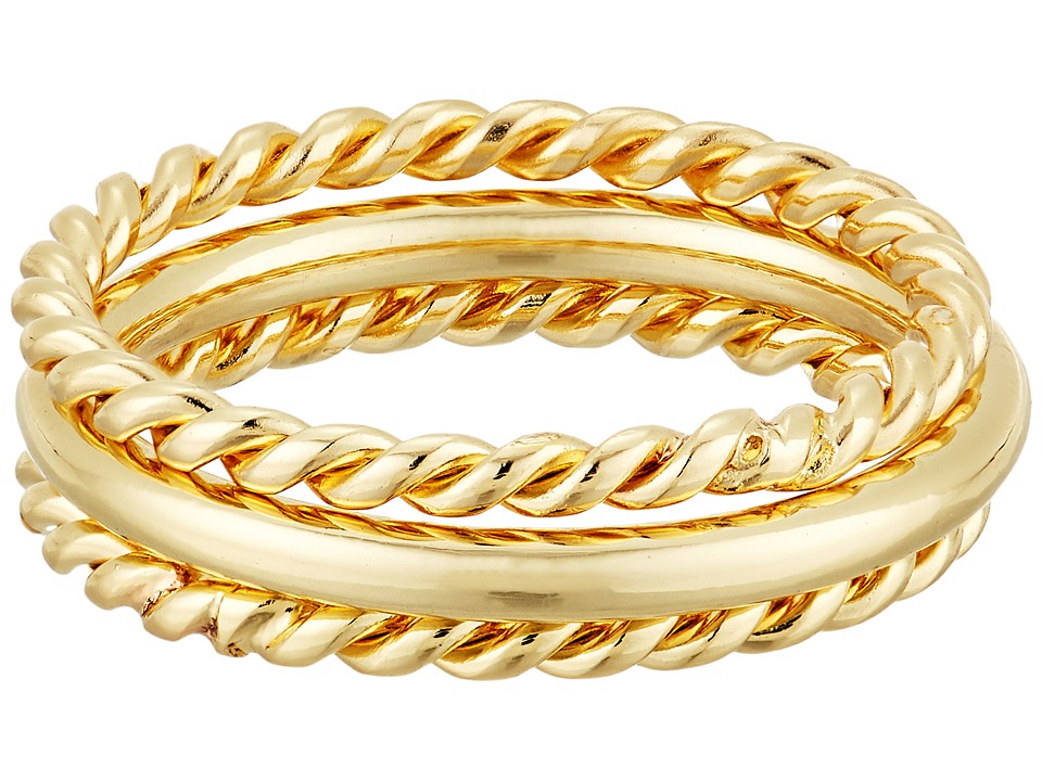 LAUREN Ralph Lauren - Perfect Pieces 3 Piece Twist and Smooth Ring Set (Gold) Ring
