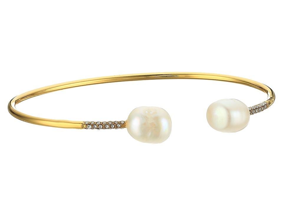 LAUREN Ralph Lauren - Talk that Talk Open Pearl Cuff Bracelet (Gold/Freshwater Pearl) Bracelet