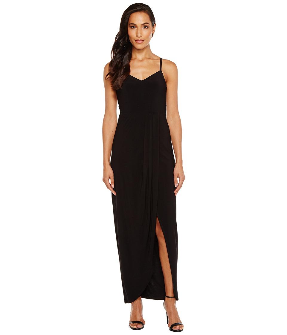 Laundry by Shelli Segal - Wrap Gown (Black) Women's Dress