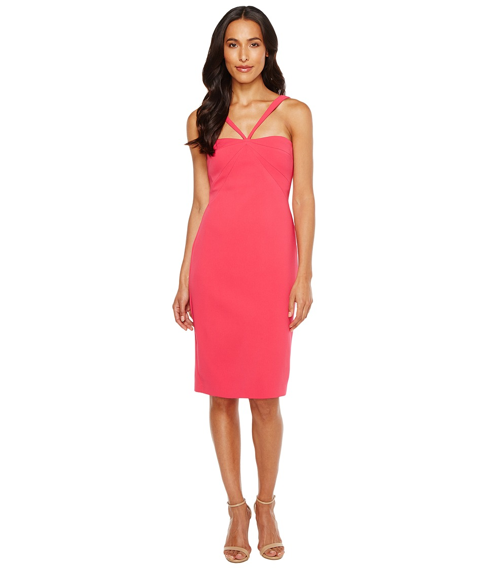 Laundry by Shelli Segal - Crepe Midi Dress (Bright Rose) Women's Dress