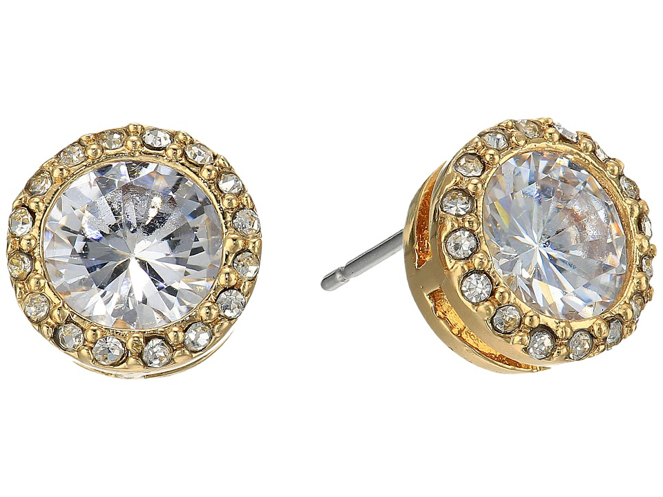 LAUREN Ralph Lauren - Halo Crystal Stud Earrings (Crystal/Gold) Earring