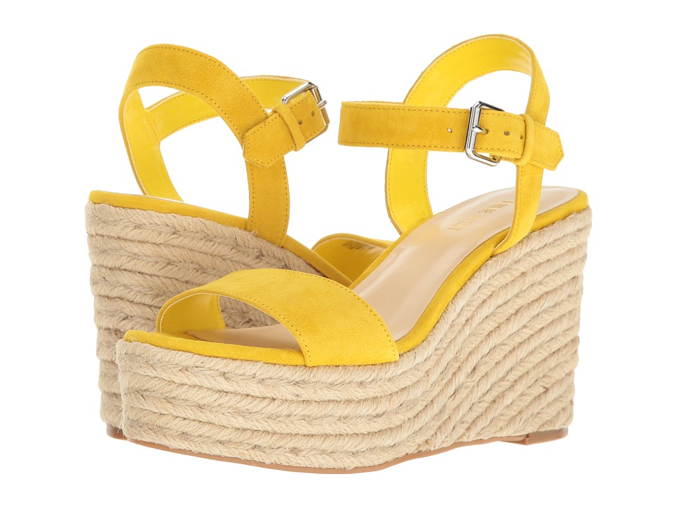 Nine West - Doitright (Citrine Yellow Suede) Women's Wedge Shoes