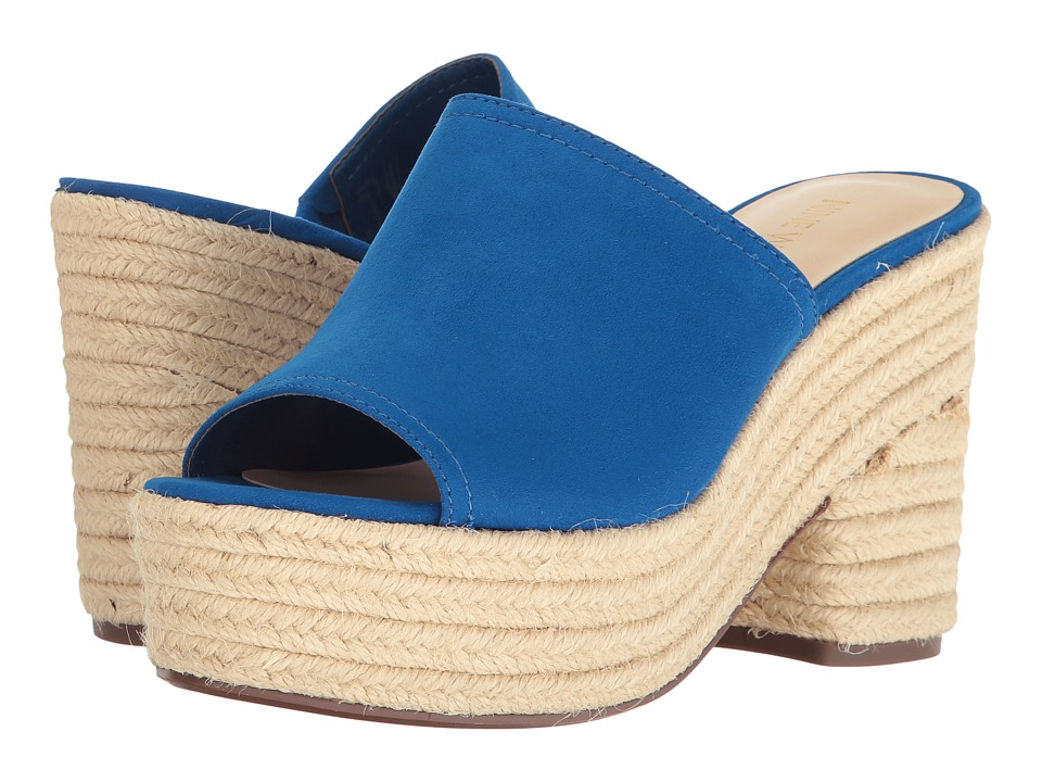 Nine West - Skyrocket (Electric Blue Suede) Women's Clog/Mule Shoes