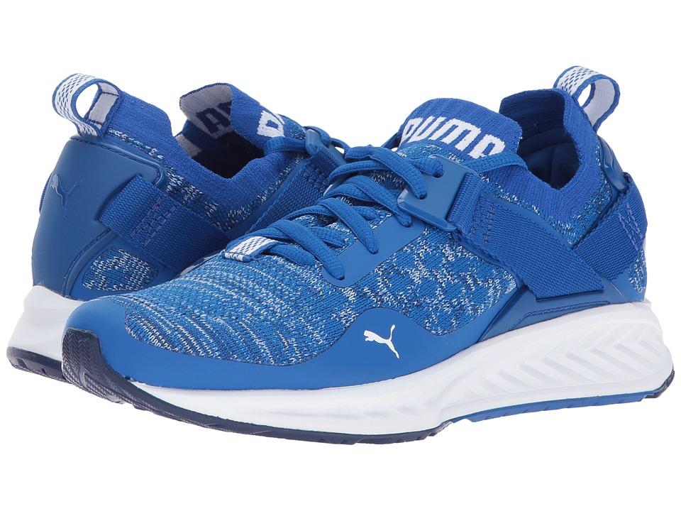 Puma Kids IGNITE evoKnit Lo (Big Kid) (Lapis Blue/Puma White) Boys Shoes