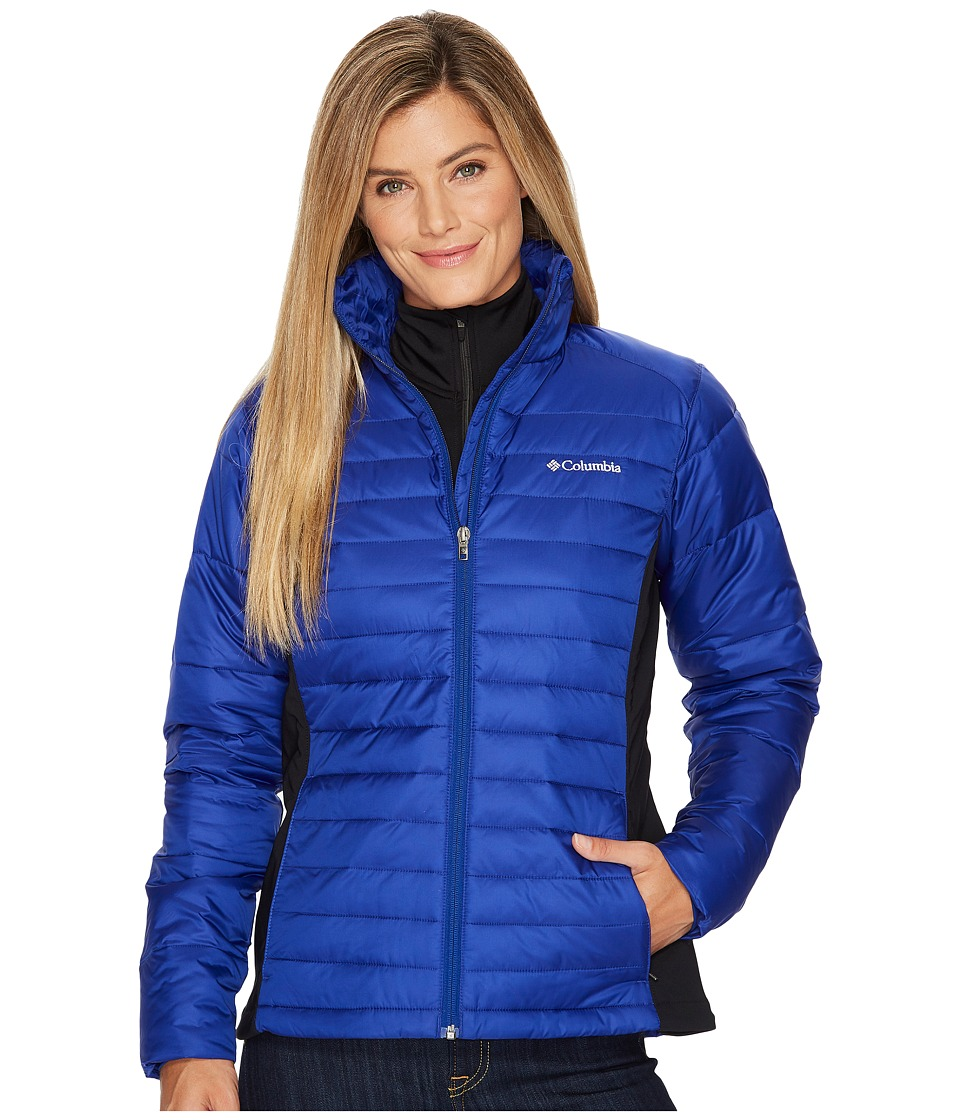 Columbia - Powder Pillowtm Hybrid Jacket (Dynasty/Black) Women's Coat