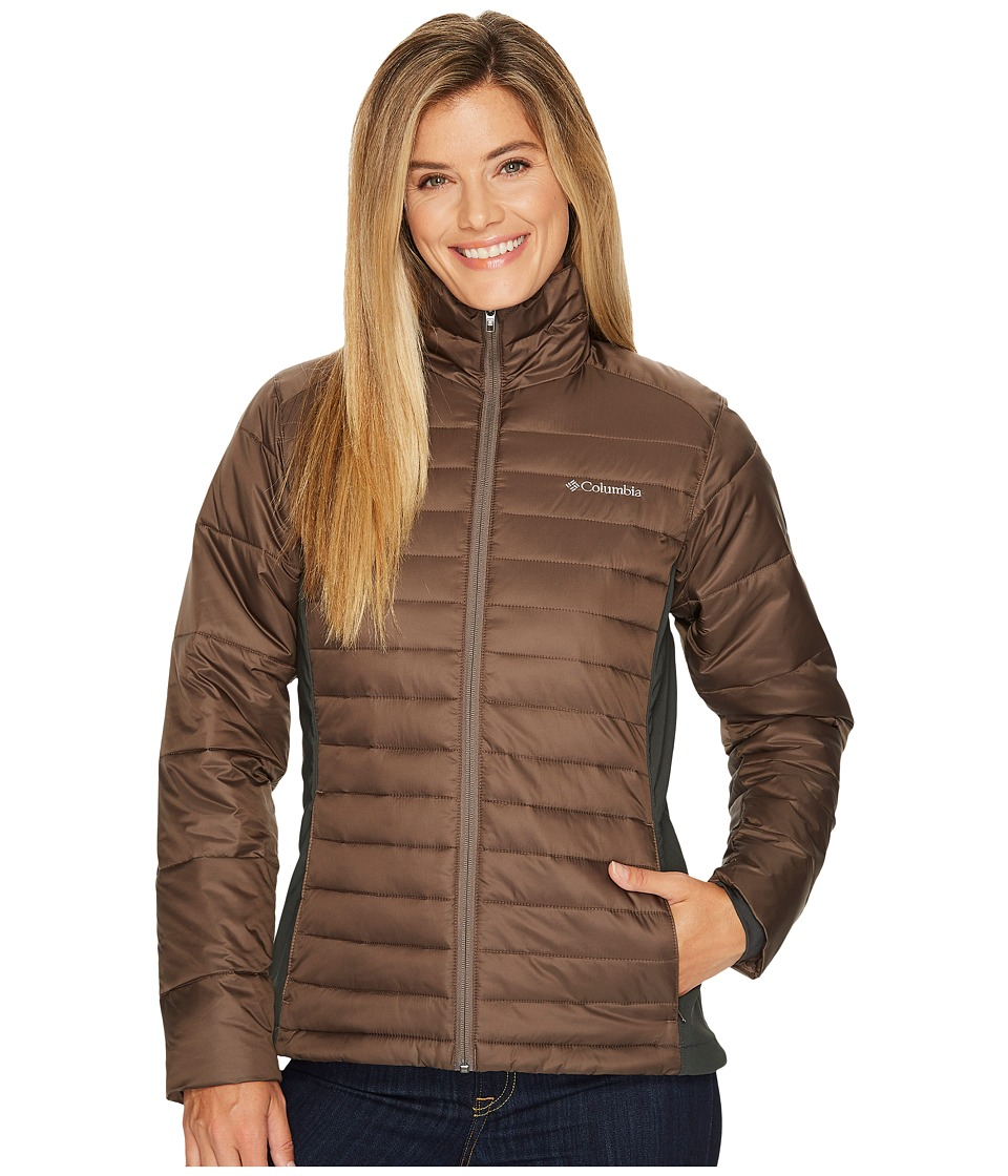 Columbia - Powder Pillowtm Hybrid Jacket (Major/Shark) Women's Coat