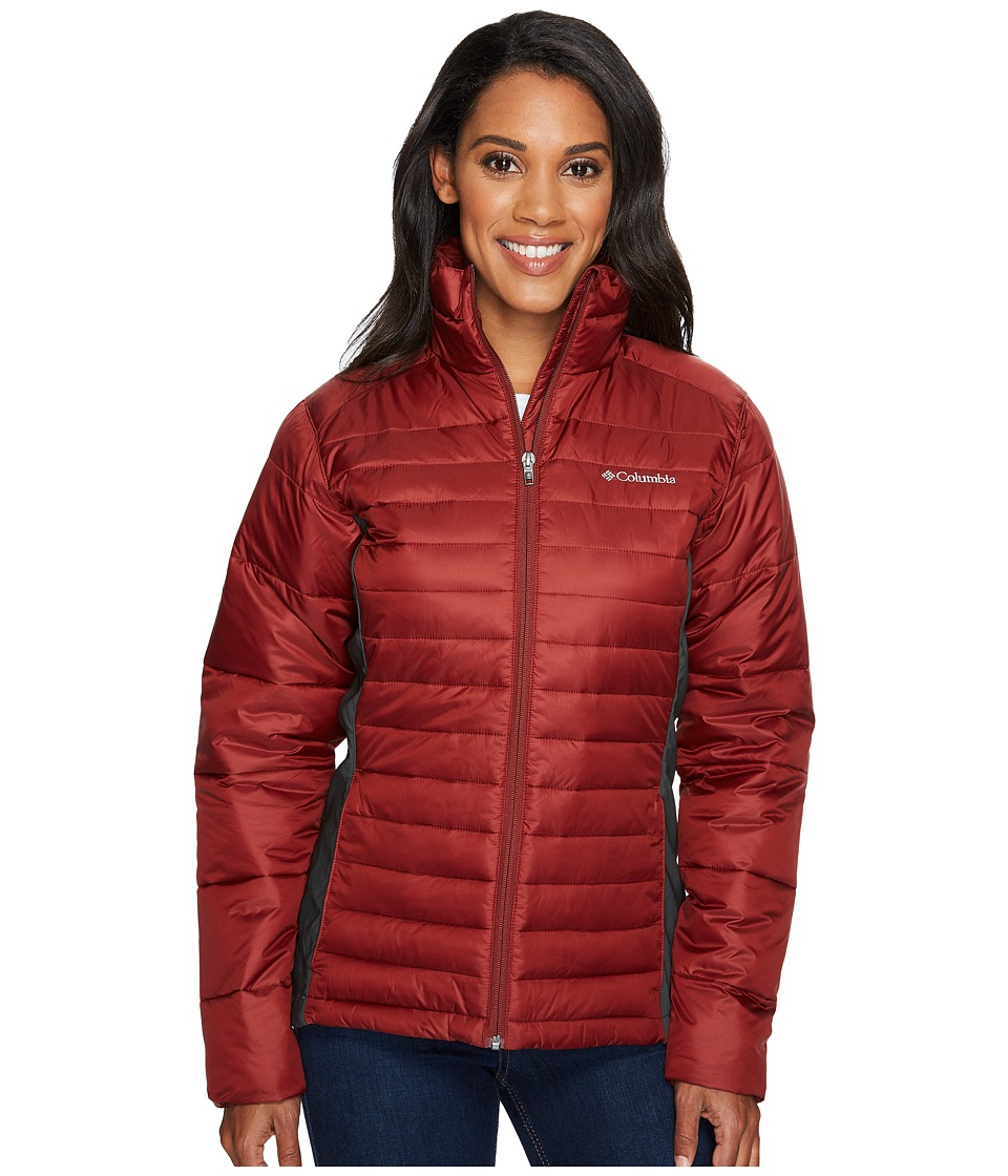 Columbia - Powder Pillowtm Hybrid Jacket (Deep Rust/Shark) Women's Coat