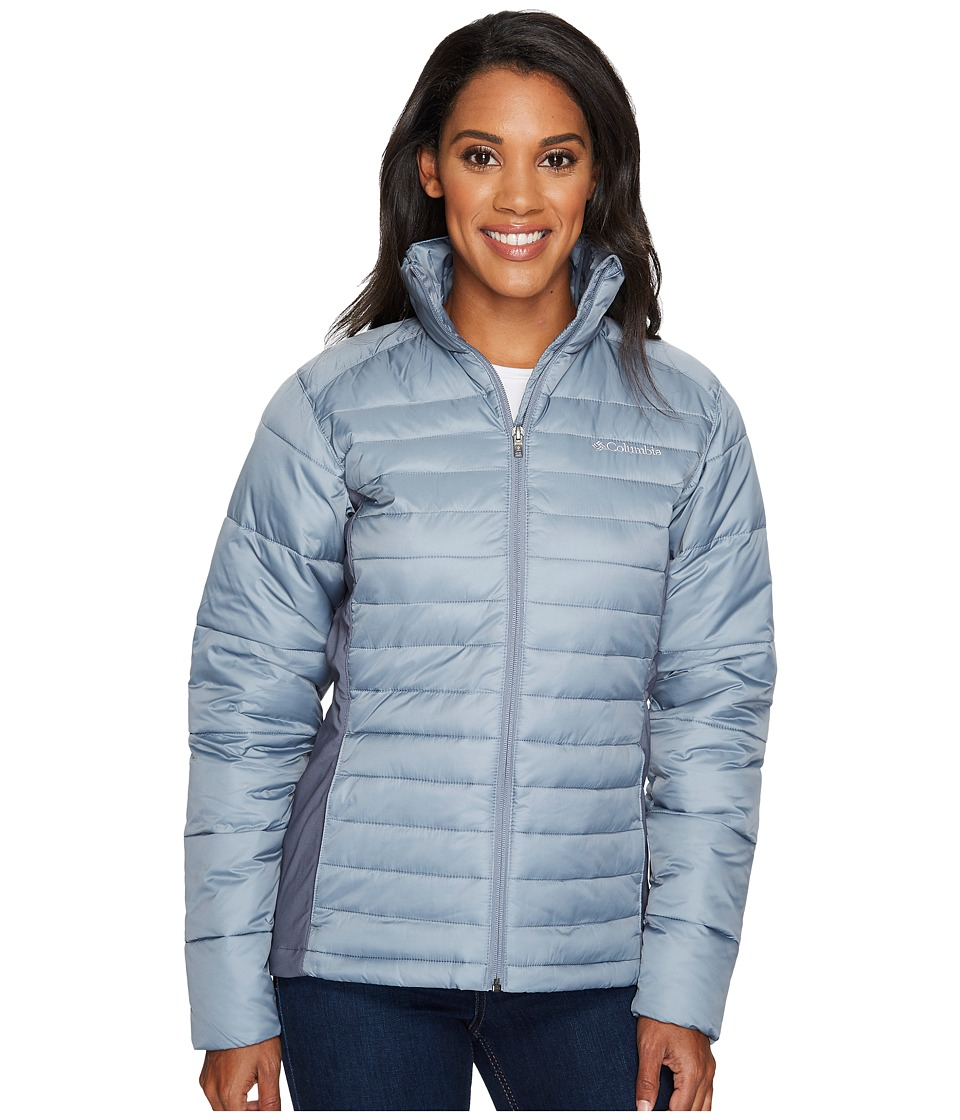 Columbia - Powder Pillowtm Hybrid Jacket (Grey Ash/Graphite) Women's Coat