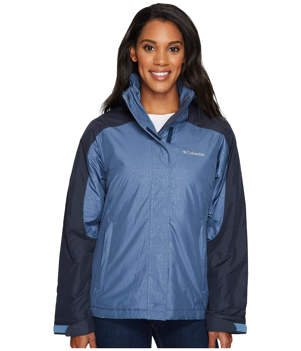 Columbia Gotcha Groovin Jacket (Mountain Emboss/India Ink Emboss) Women