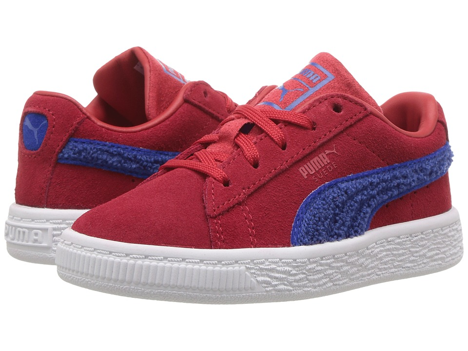 Puma Kids Suede Classic Terry (Toddler) (Toreador/Lapis) Boys Shoes