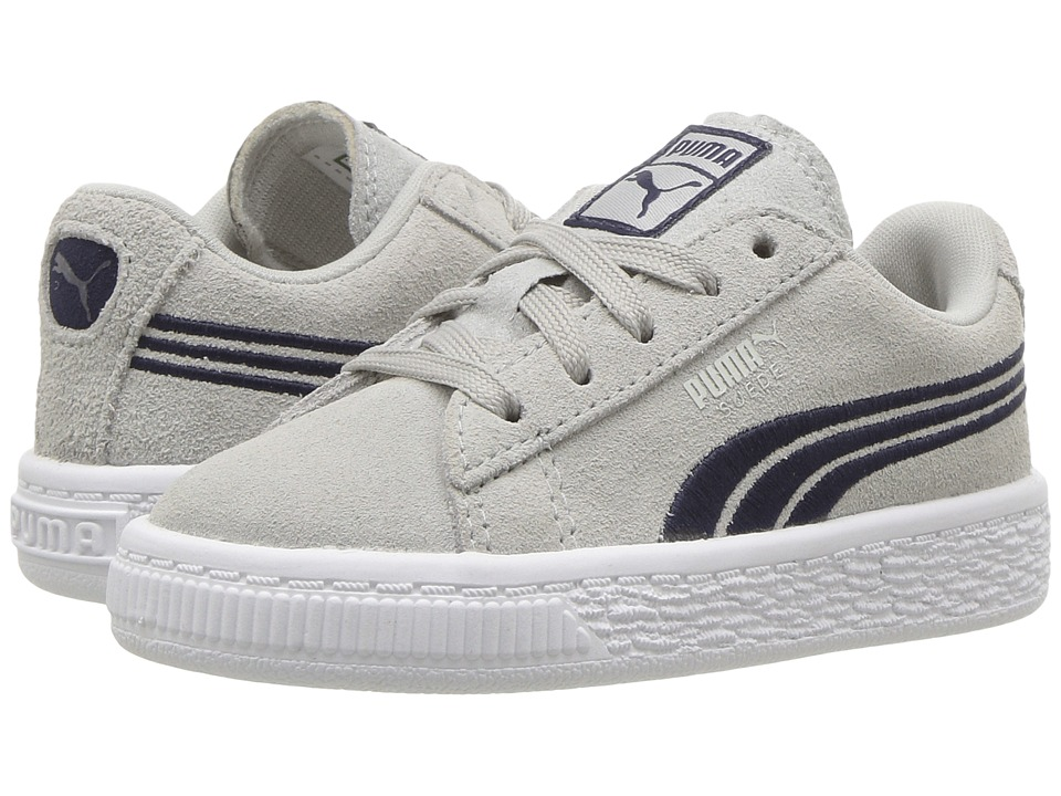 Puma Kids Suede Classic Badge (Toddler) (Gray Violet/Peacoat) Boys Shoes
