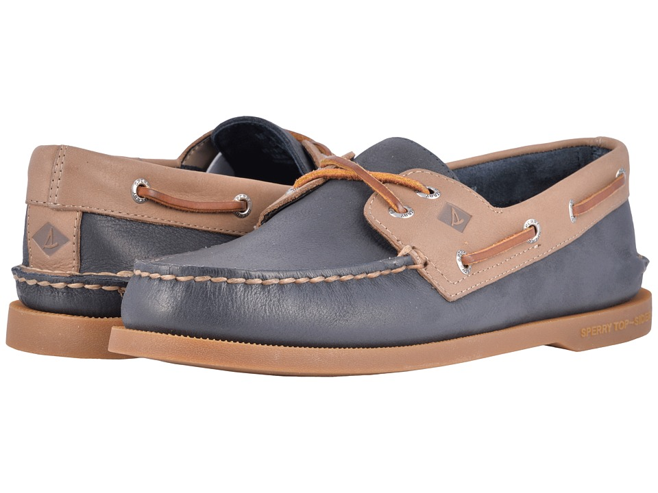 Sperry - A/O 2-Eye Cross Lace (Navy/Stone) Men's Lace up casual Shoes