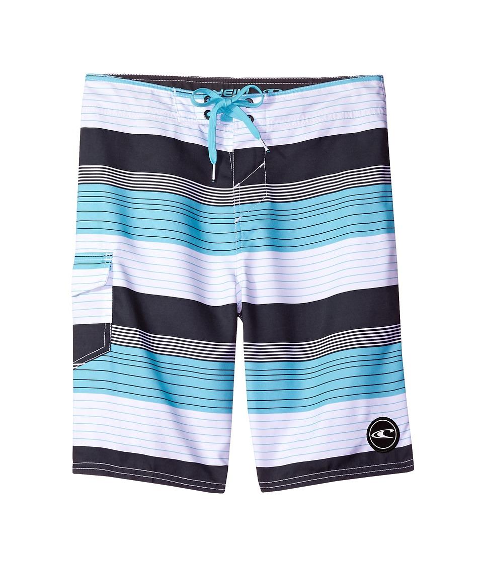 O'Neill Kids - Santa Cruz Stripe (Little Kids) (Turquoise) Boy's Swimwear