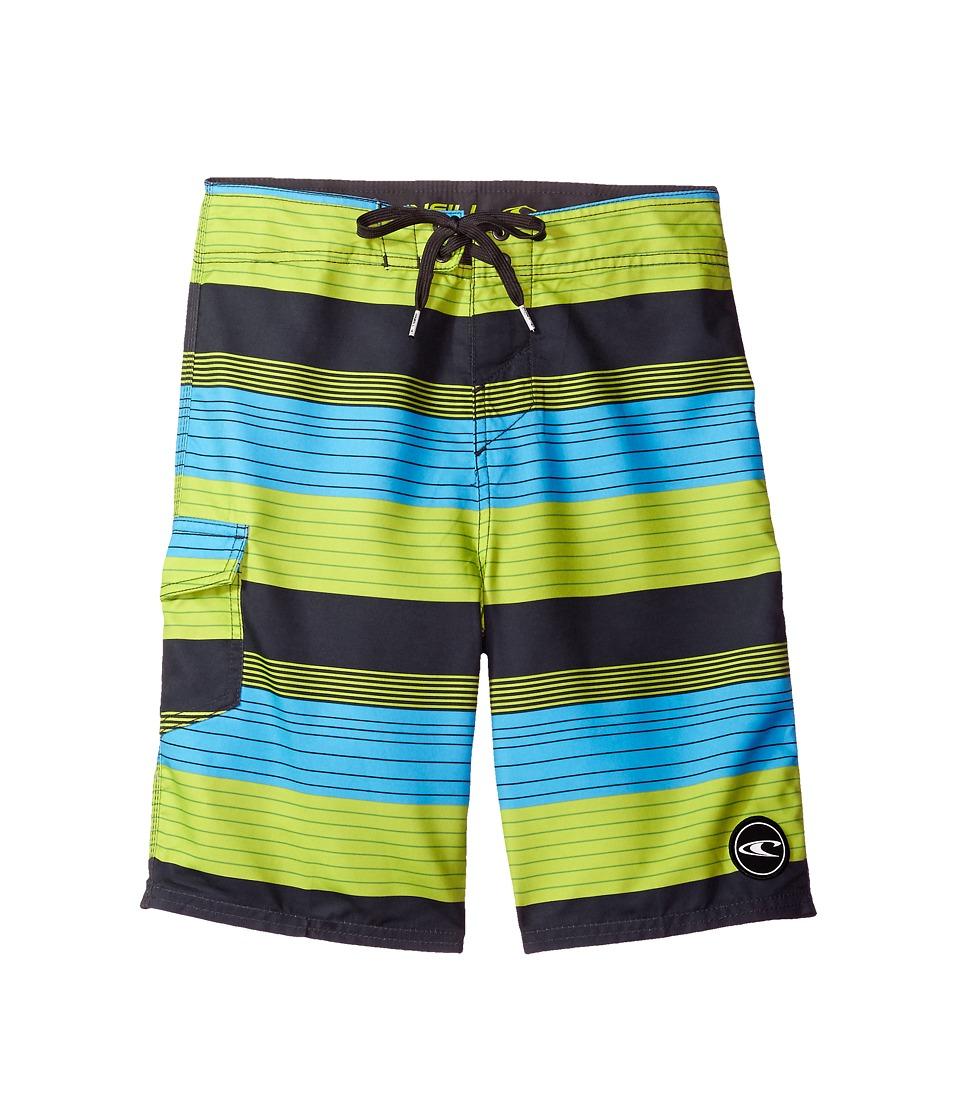 O'Neill Kids - Santa Cruz Stripe (Little Kids) (Lime) Boy's Swimwear