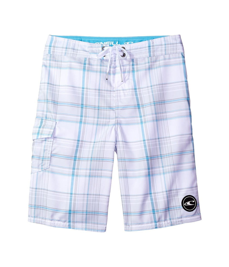 O'Neill Kids - Santa Cruz Plaid Boardshorts (Little Kids) (White) Boy's Swimwear