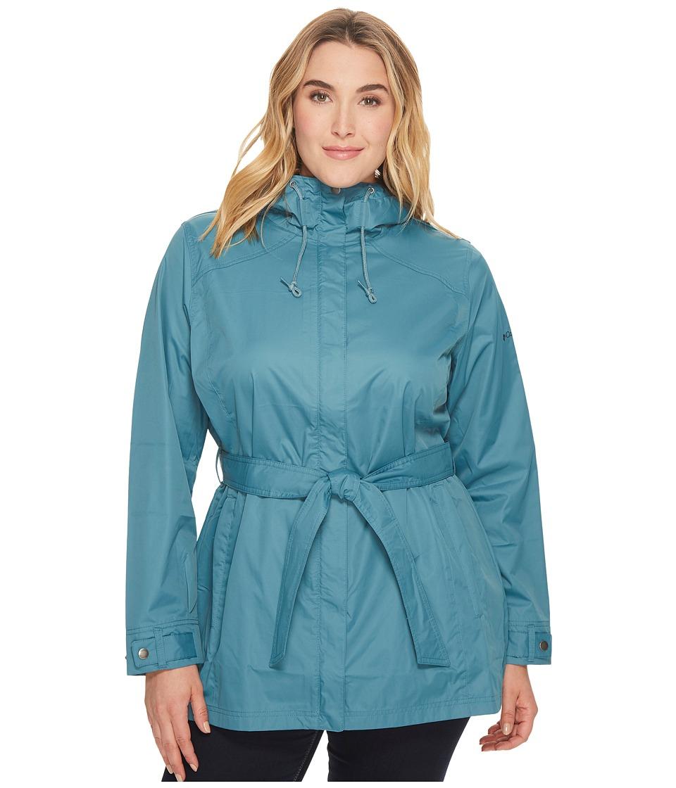 Columbia - Plus Size Pardon My Trenchtm Rain Jacket (Cloudburst) Women's Coat