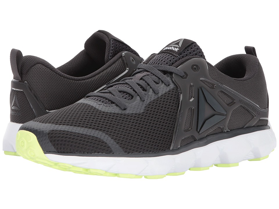 Reebok Hexaffect Run 5.0 MTM (Coal/Electric Flash/White/Pewter/Alloy) Men