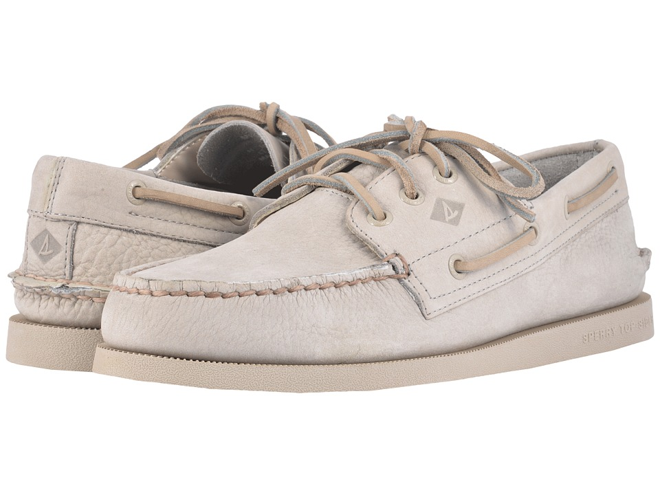 Sperry - A/O 3-Eye Nubuck Flood (Grey) Men's Slip on Shoes