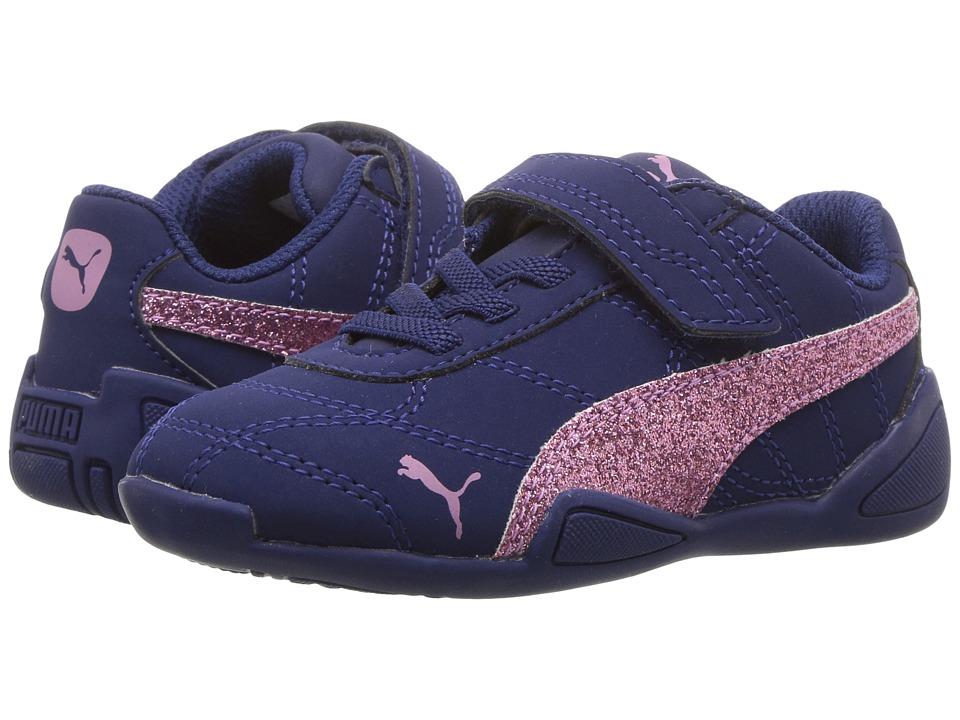 Puma Kids - Tune Cat 3 Glam V (Toddler) (Blue Depths/Smoky Grape) Girls Shoes