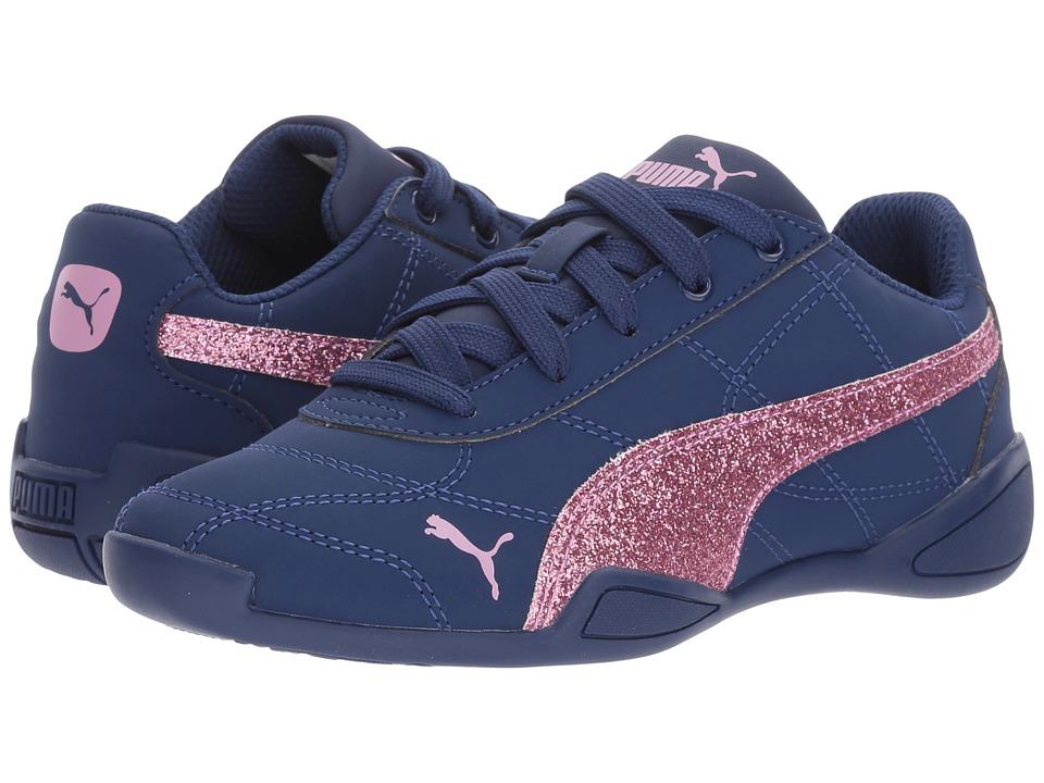 Puma Kids Tune Cat 3 Glam (Little Kid/Big Kid) (Blue Depths/Smoky Grape) Girls Shoes