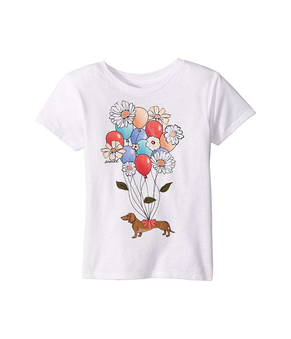 O'Neill Kids - Uplifting Tee (Toddler/Little Kids) (White) Girl's T Shirt
