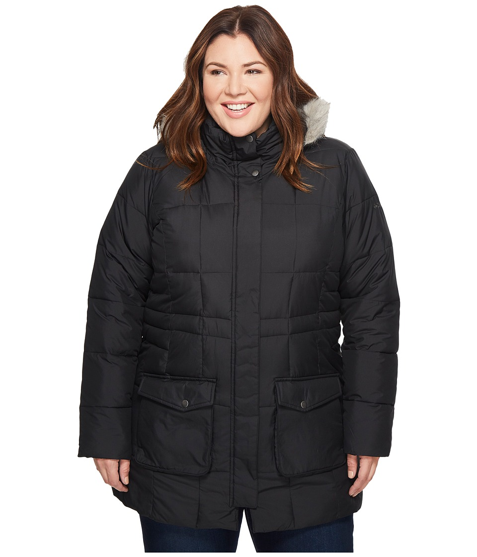 Columbia - Plus Size Lone Creek Mid Coat (Black) Women's Coat