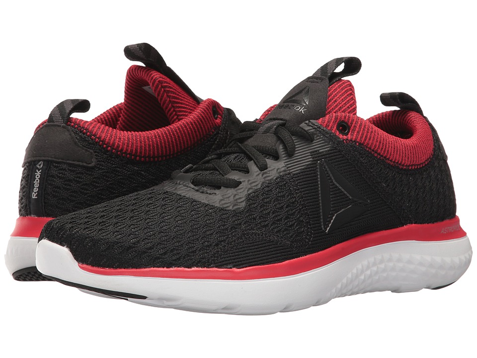 Reebok - Astroride Run Fire MTM (Black/Coal/Primal Red/White/Silver Metallic/Pewter) Men's Running Shoes