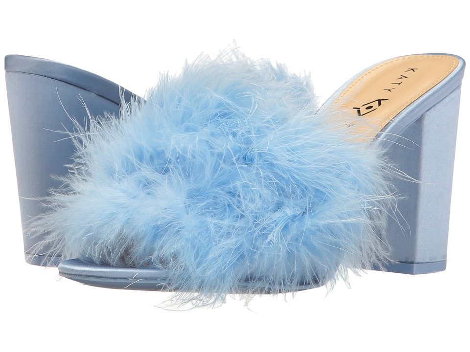 Katy Perry - The Bon-Bon (Soft Blue Satin/Feather) Women's Shoes