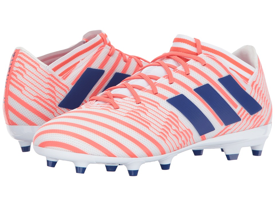 adidas - Nemeziz 17.3 FG (Footwear White/Mystery Ink/Easy Coral) Women's Soccer Shoes
